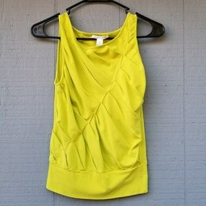 Alice and Olivia Ruffle Front Seam Tank Top XS